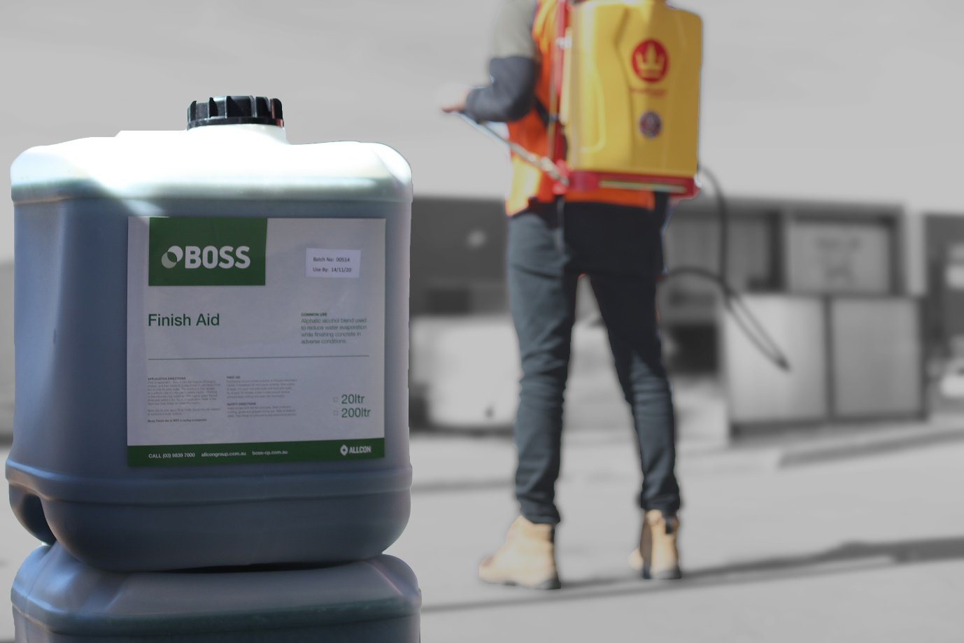 When applied to freshly laid concrete, aliphatic alcohol retards or reduces water evaporation by up to 80% during the critical stages of the initial set.